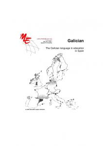 Galician. The Galician language in education in Spain