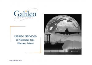Galileo Services. 30 November 2004, Warsaw, Poland