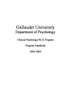 Gallaudet University Department of Psychology
