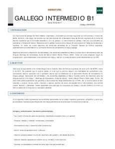 GALLEGO INTERMEDIO B1