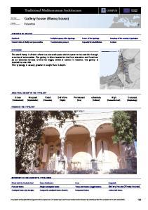 Gallery house (Riwaq house)
