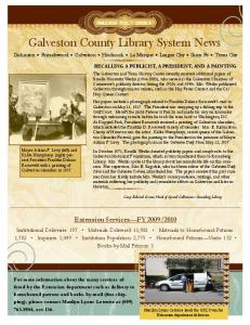 Galveston County Library System News