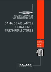 GAMA DE AISLANTES ULTRA FINOS MULTI-REFLECTORES