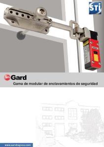 Gama de modular de enclavamientos de seguridad