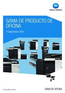 GAMA DE PRODUCTO DE OFICINA