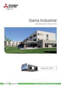 Gama Industrial UNIDADES DE CONDUCTOS. Series PEZ SPEZ. econsumo econfort ecompromiso