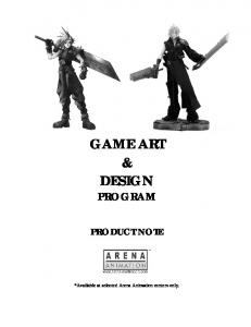 GAME ART & DESIGN PROGRAM