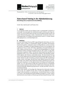 Game-based Training in der Alphabetisierung