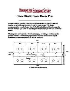 Game Bird Grower House Plan