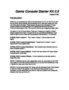 Game Console Starter Kit 2.0