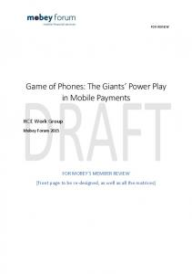 Game of Phones: The Giants Power Play in Mobile Payments