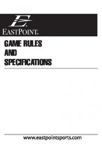 GAME RULES AND SPECIFICATIONS