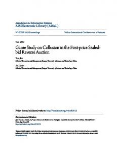 Game Study on Collusion in the First-price Sealedbid Reverse Auction