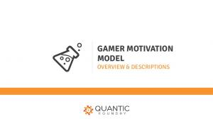 GAMER MOTIVATION MODEL OVERVIEW & DESCRIPTIONS