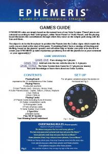 GAMES GUIDE GAME VARIATIONS