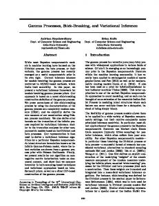 Gamma Processes, Stick-Breaking, and Variational Inference