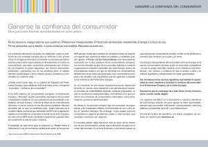 Ganarse la confianza del consumidor