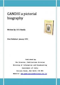 GANDHI a pictorial biography