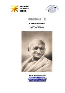 GANDHI II MAHATMA GANDHI