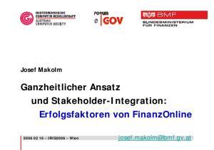Ganzheitlicher Ansatz und Stakeholder-Integration: Erfolgsfaktoren von FinanzOnline