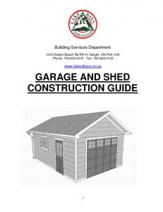 GARAGE AND SHED CONSTRUCTION GUIDE