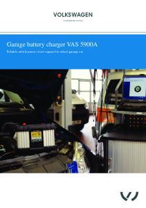 Garage battery charger VAS 5900A