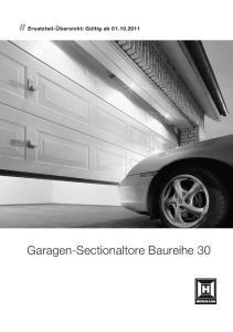 Garagen-Sectionaltore Baureihe 30