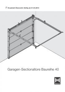 Garagen-Sectionaltore Baureihe 40