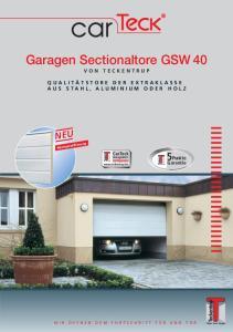 Garagen Sectionaltore GSW 40