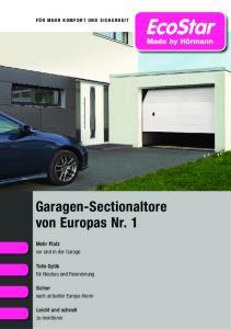 Garagen-Sectionaltore von Europas Nr. 1