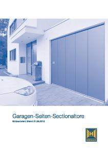 Garagen-Seiten-Sectionaltore