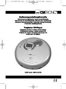 Garantie. Tragbarer CD-Player
