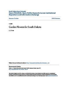 Garden Flowers for South Dakota