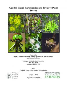Garden Island Rare Species and Invasive Plant Survey