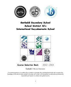 Garibaldi Secondary School School District 42 s International Baccalaureate School