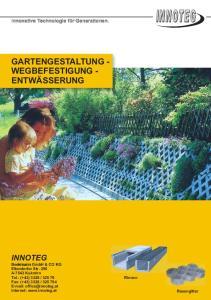 GARTENGESTALTUNG - WEGBEFESTIGUNG - ENTWÄSSERUNG
