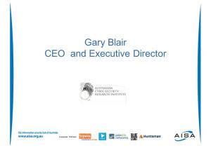 Gary Blair CEO and Executive Director. Corporate Partners
