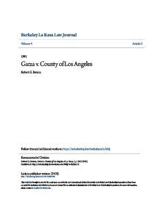 Garza v. County of Los Angeles