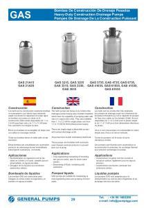 GAS 3215, GAS 3235 GAS 3315, GAS 3335, GAS 3535