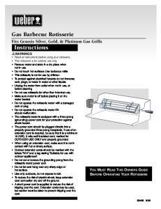 Gas Barbecue Rotisserie