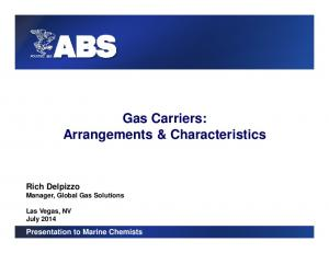 Gas Carriers: Arrangements & Characteristics