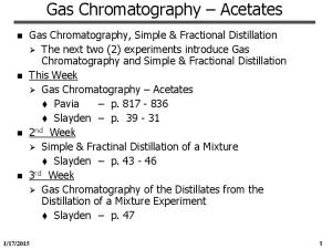 Gas Chromatography Acetates