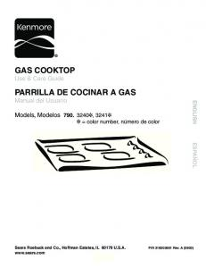 Gas COOKTOP Use & Care Guide