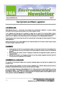 Gas Cylinders and Waste Legislation