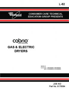 GAS & ELECTRIC DRYERS