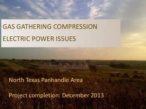 GAS GATHERING COMPRESSION ELECTRIC POWER ISSUES