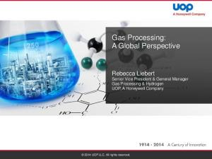 Gas Processing: A Global Perspective