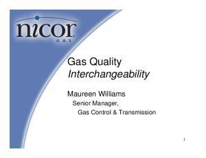 Gas Quality Interchangeability