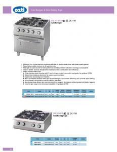 Gas Ranges & Gas Boiling Tops