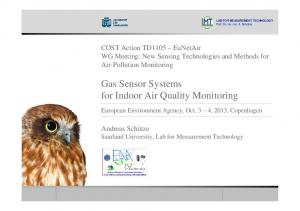 Gas Sensor Systems for Indoor Air Quality Monitoring